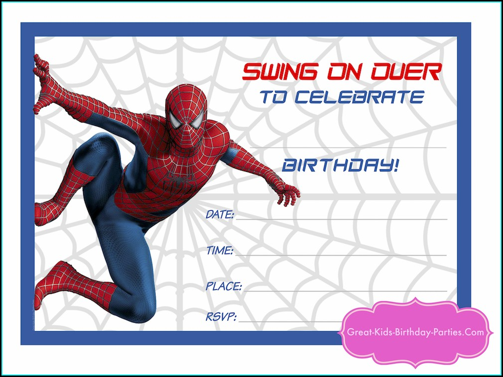 Editable Superhero Birthday Party Invitation Template Free