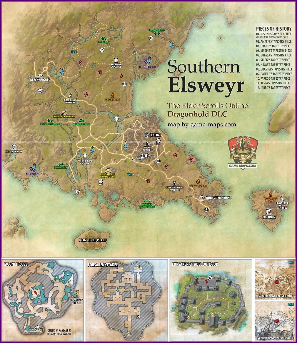 Elder Scrolls Online Map 2020