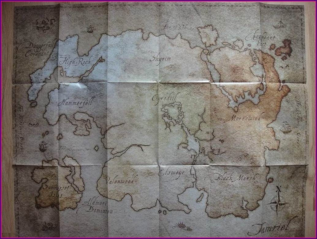 Elder Scrolls Online Map Of Tamriel