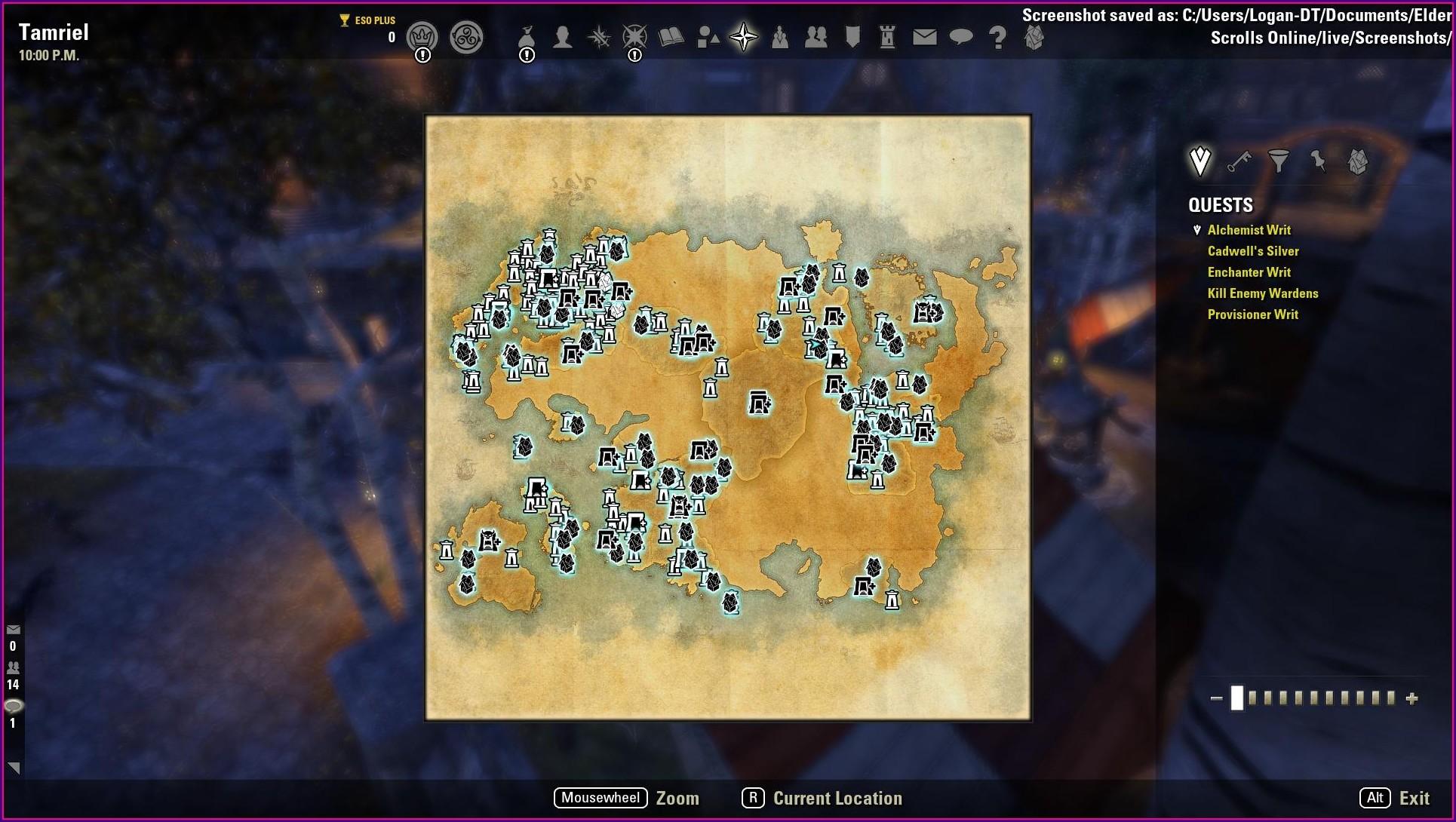 Elder Scrolls Online Map Size 2020