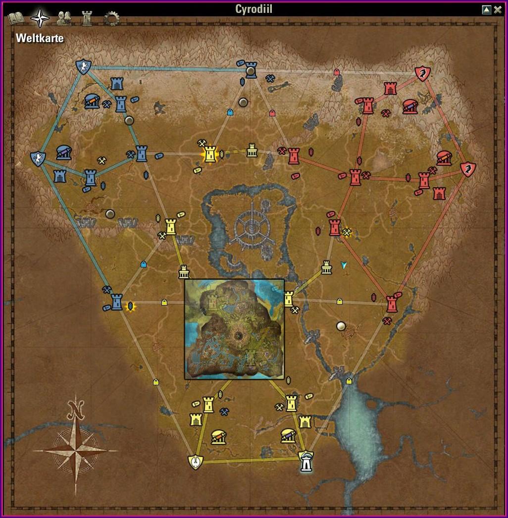 Elder Scrolls Online Map Size Comparison
