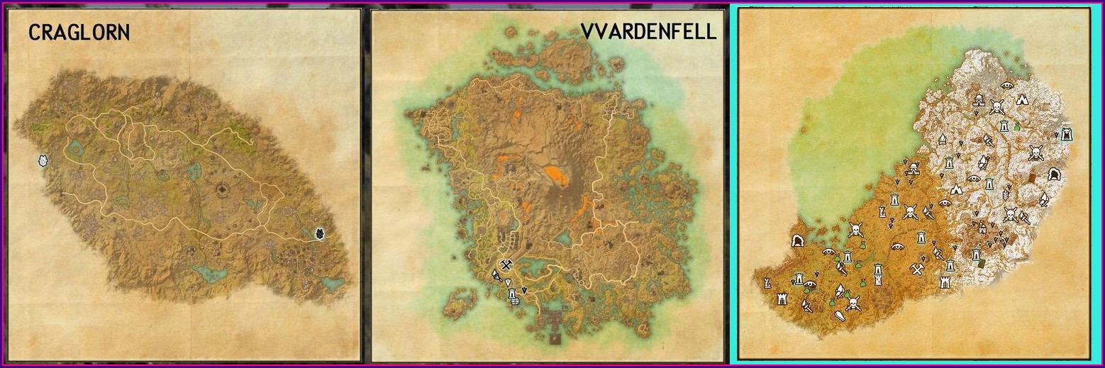 Elder Scrolls Online Map Size Vs Skyrim