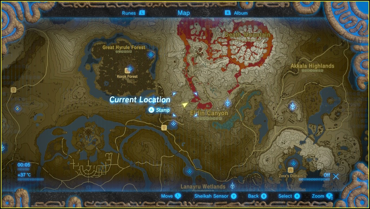 Eldin Zelda Botw Shrine Map