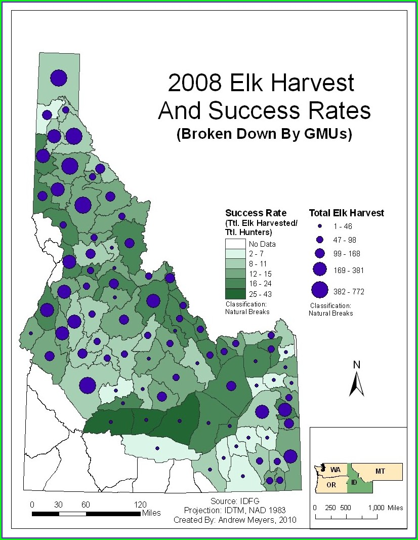 Elk Population Washington State Gmu Map