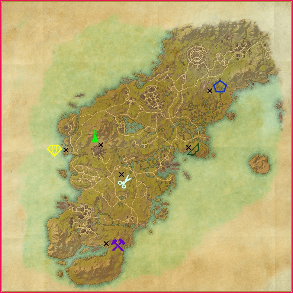 Eso Survey Maps Wrothgar
