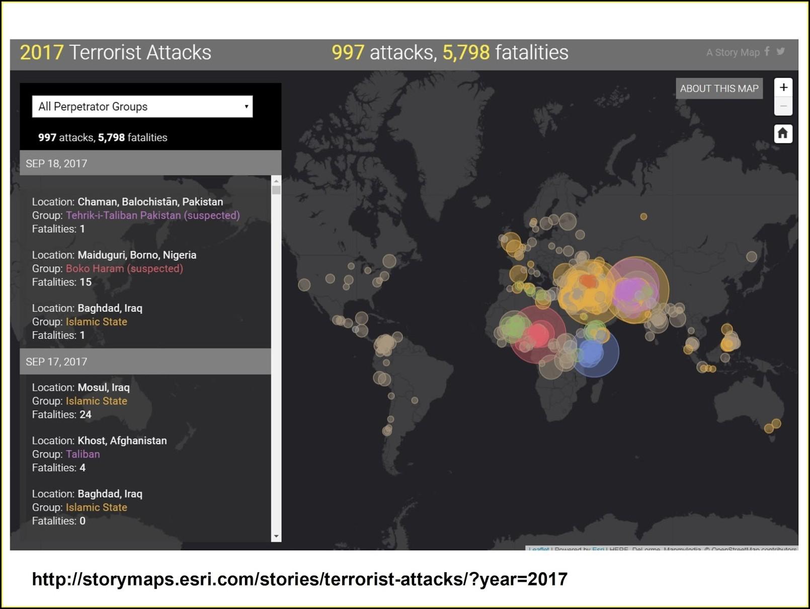 Esri Story Maps Terrorism