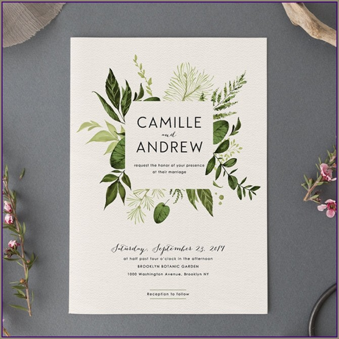 Etsy Wedding Invitation Suite