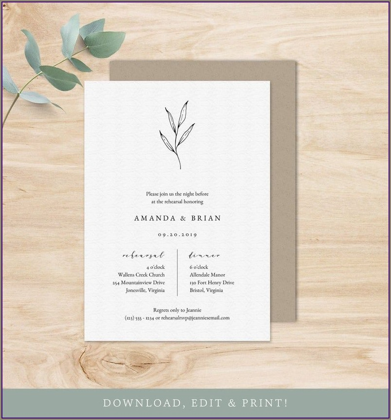 Fall Rehearsal Dinner Invitations