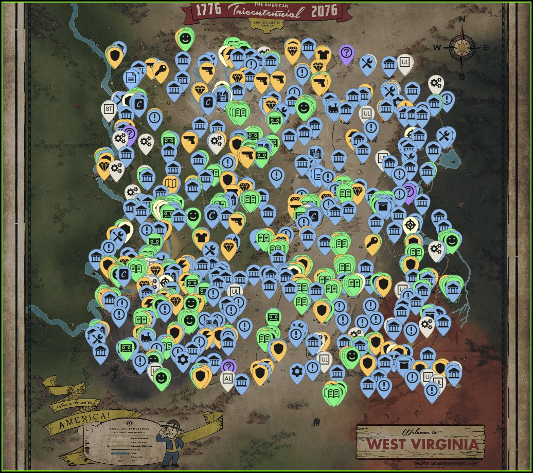 Fallout 76 Interactive Map Reddit