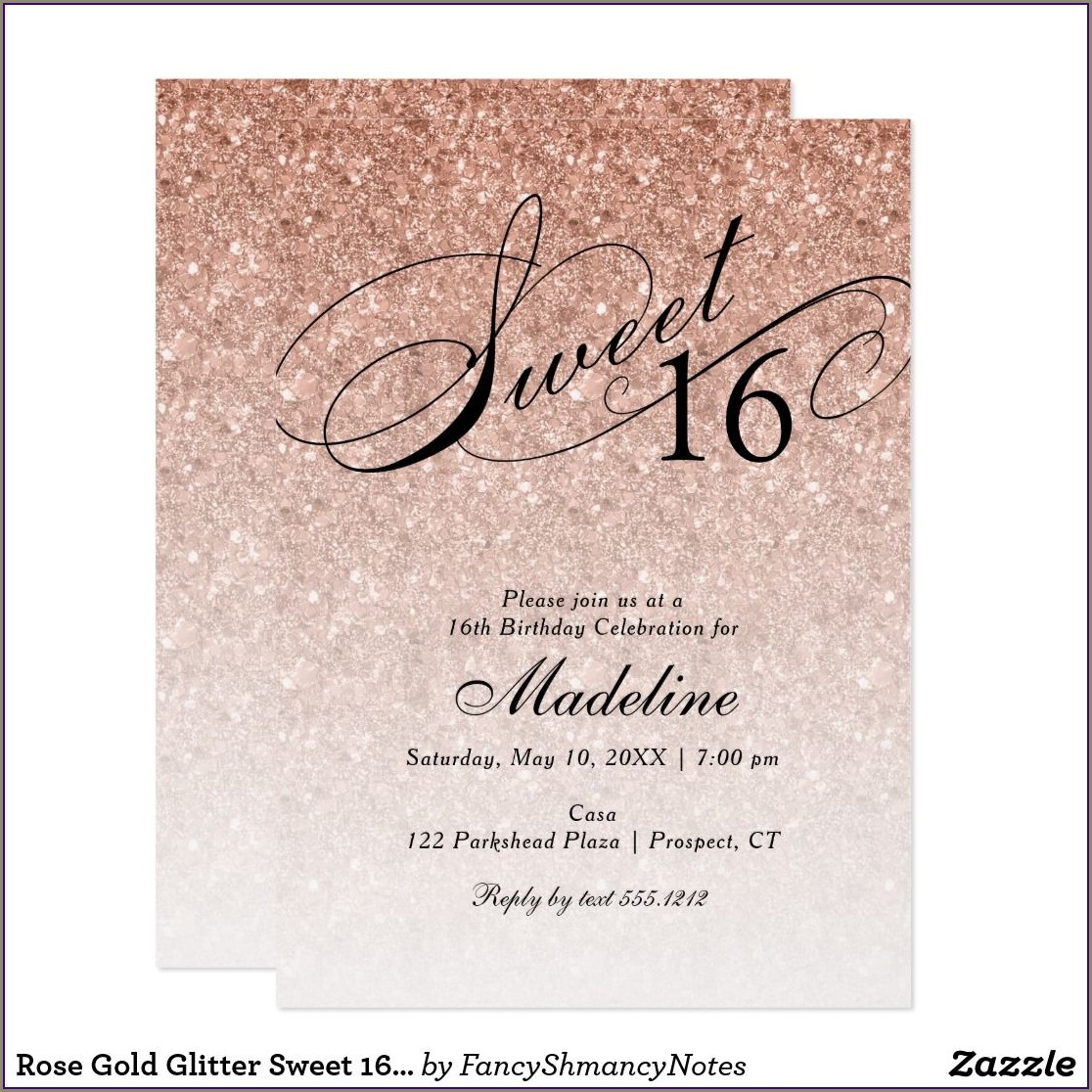 Fancy Sweet 16 Invitations