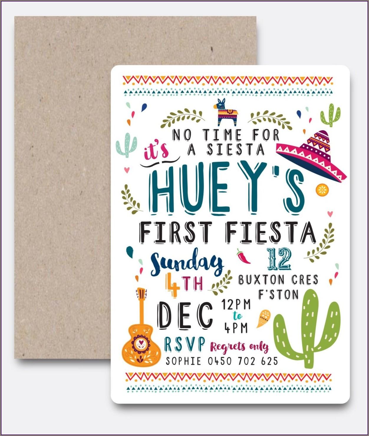 Fiesta First Birthday Invitations