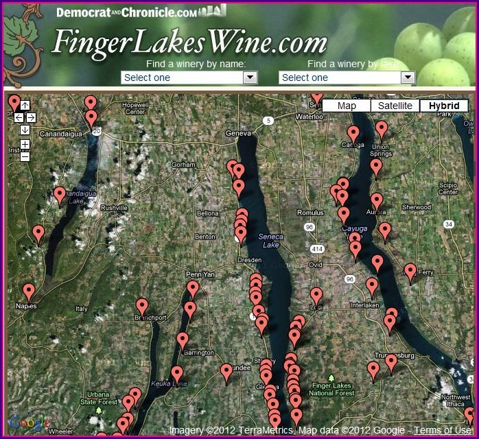Finger Lakes Wineries Map
