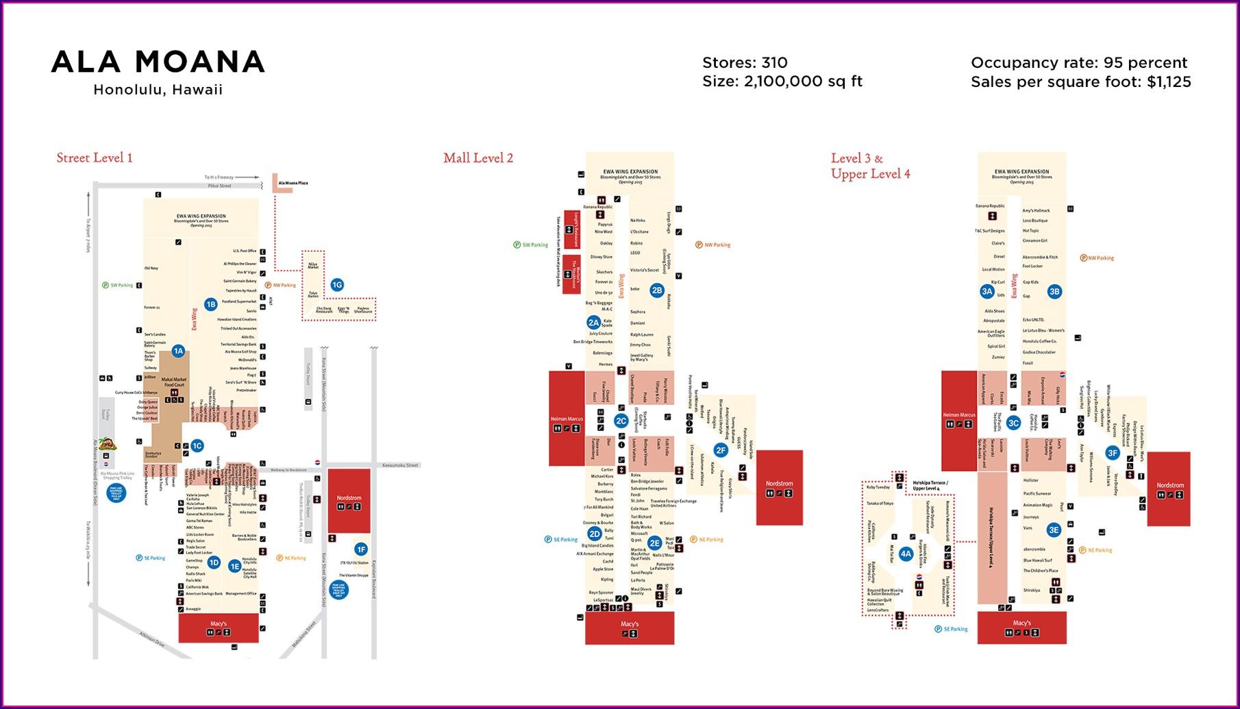 Floor Plan Ala Moana Mall Map