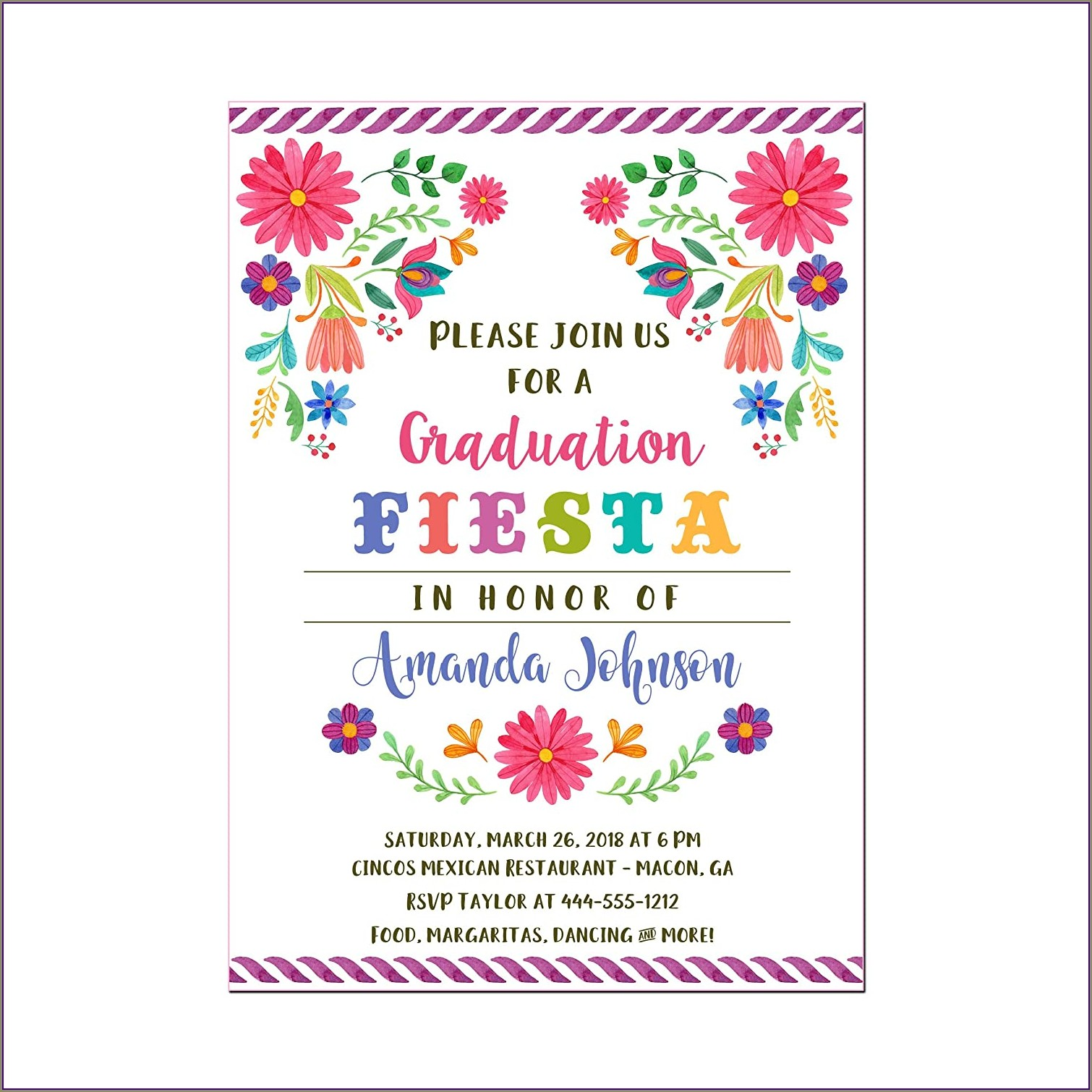 Floral Graduation Invitations With Pictures