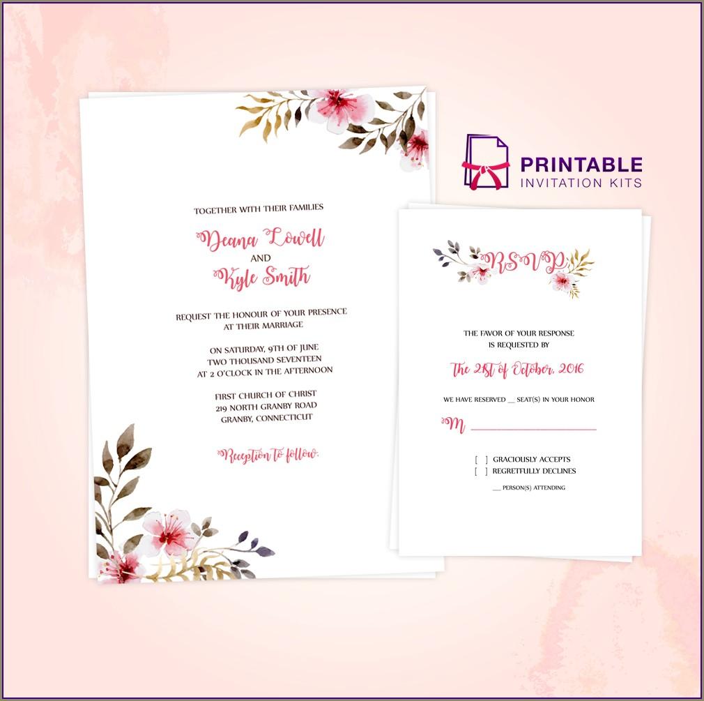 Floral Wedding Invitation Templates Free Download