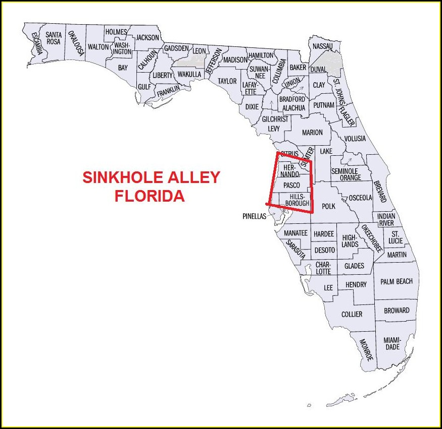 Florida Sinkhole Map 2018