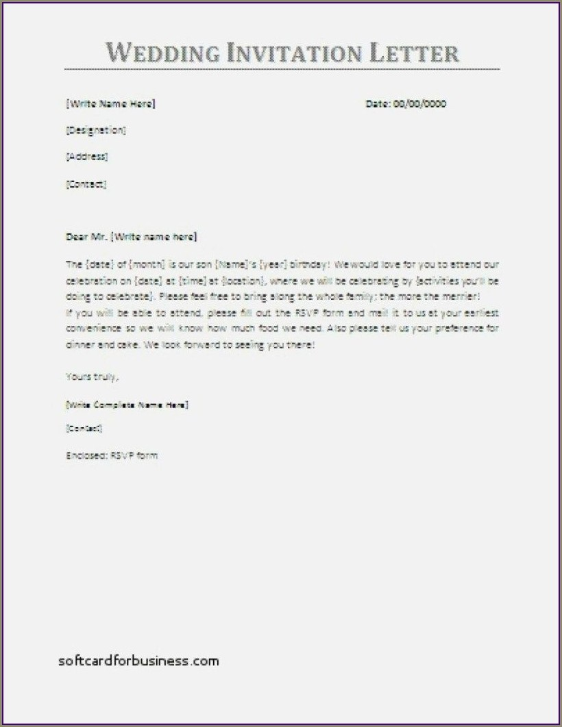 Formal Wedding Invitation Email To Colleagues