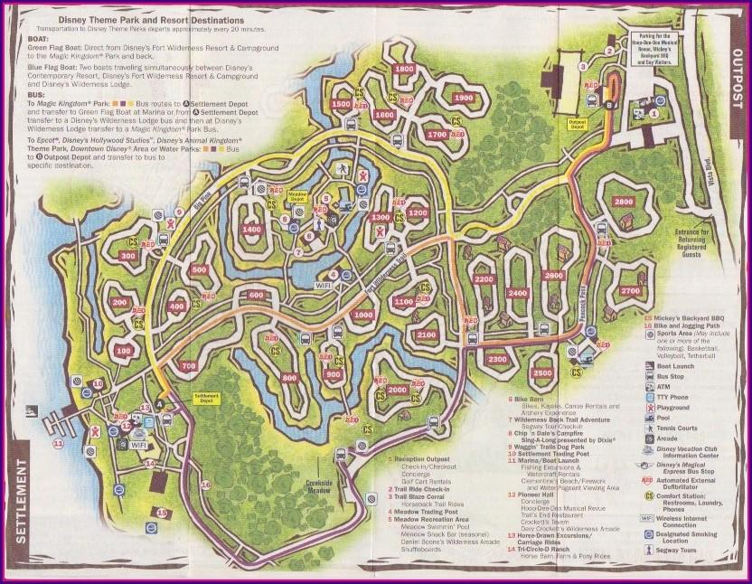 Fort Wilderness Campground Map 2019