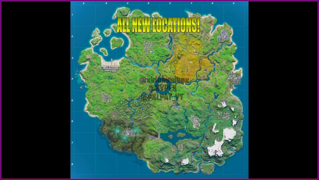 Fortnite Chapter 2 Map All Locations