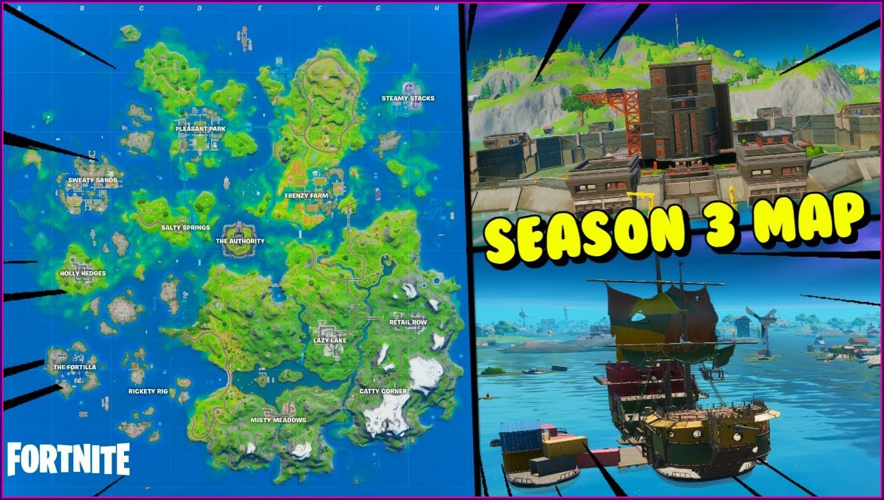Fortnite Map Season 2 All Locations