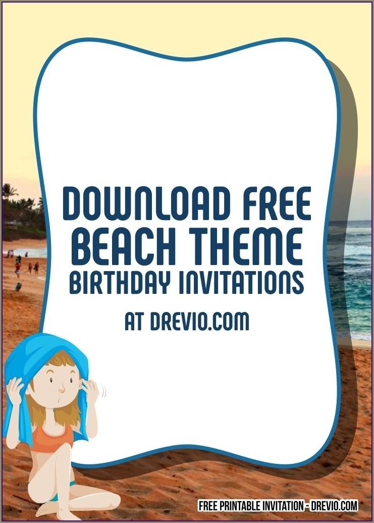 Free Beach Party Invitation Templates