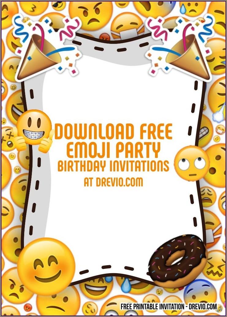 Free Emoji Birthday Invitations Printable