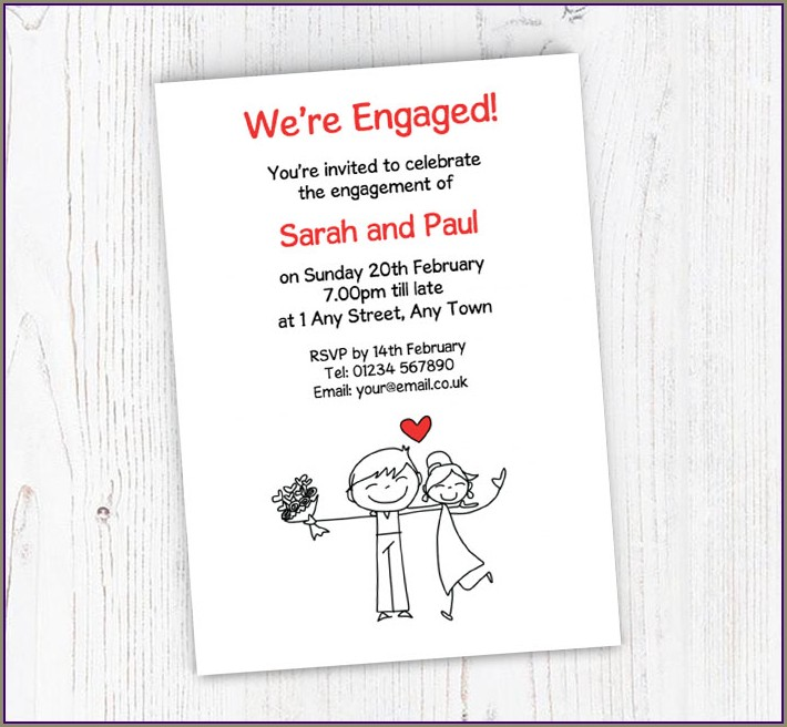 Free Engagement Invitations Online