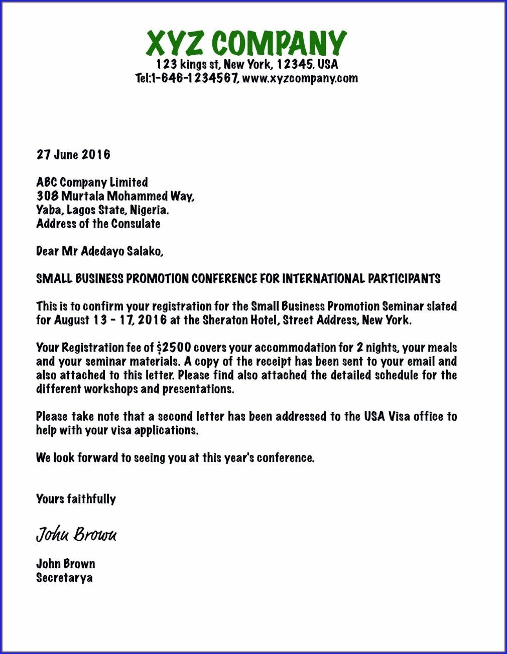 Free Invitation Letter Templates