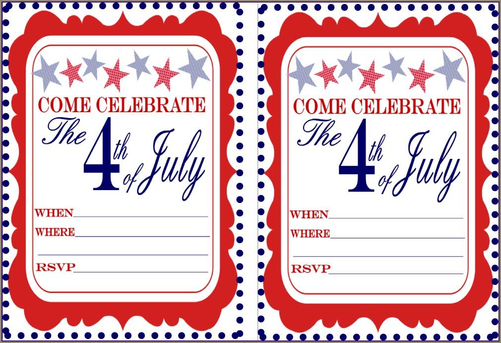 Free Memorial Day Invitation Templates