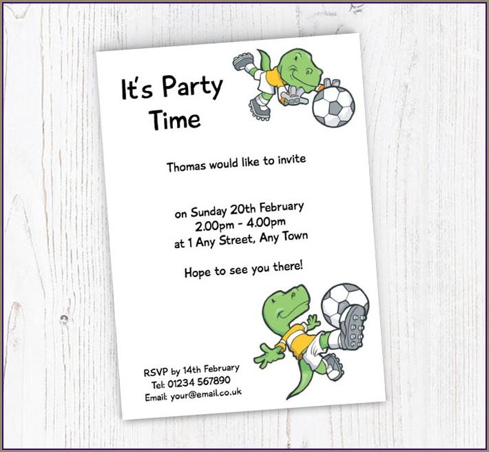 Free Online Dinosaur Invitations