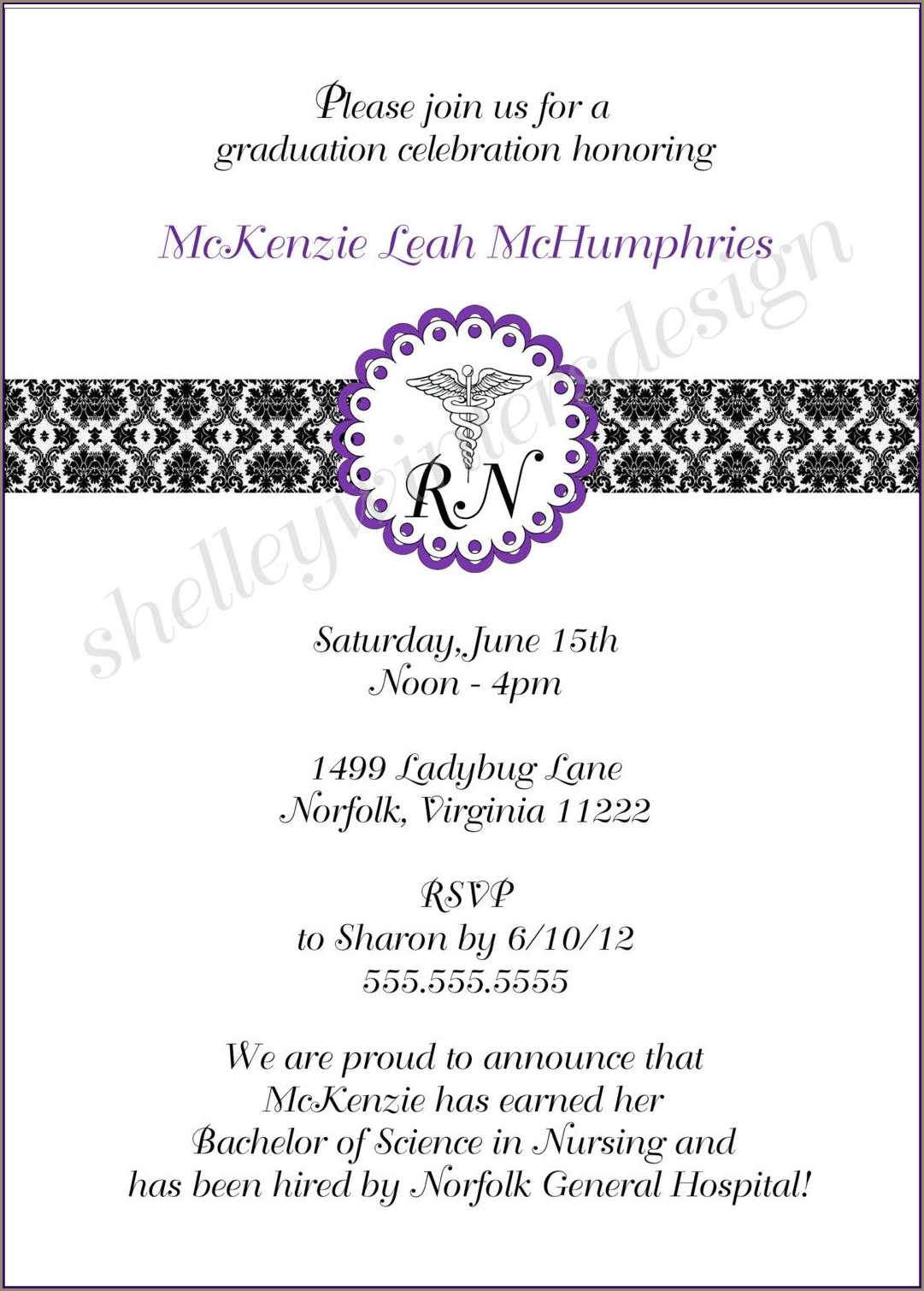 Free Pinning Ceremony Invitations
