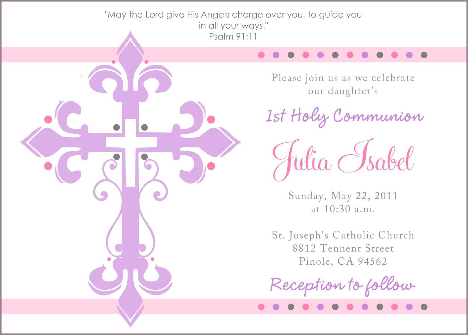 Free Printable 1st Holy Communion Invitations