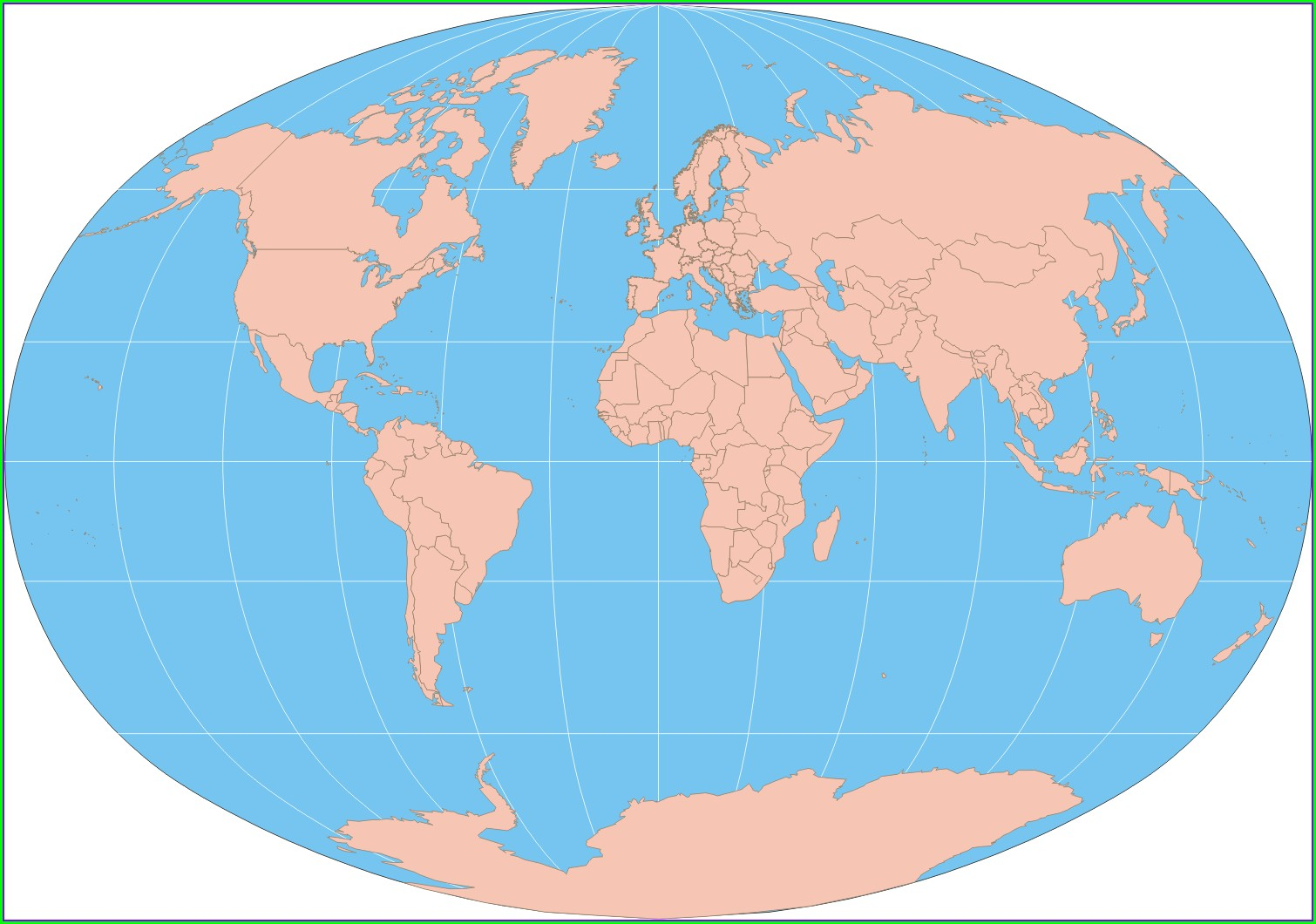 Free Printable Blank World Map For Kids