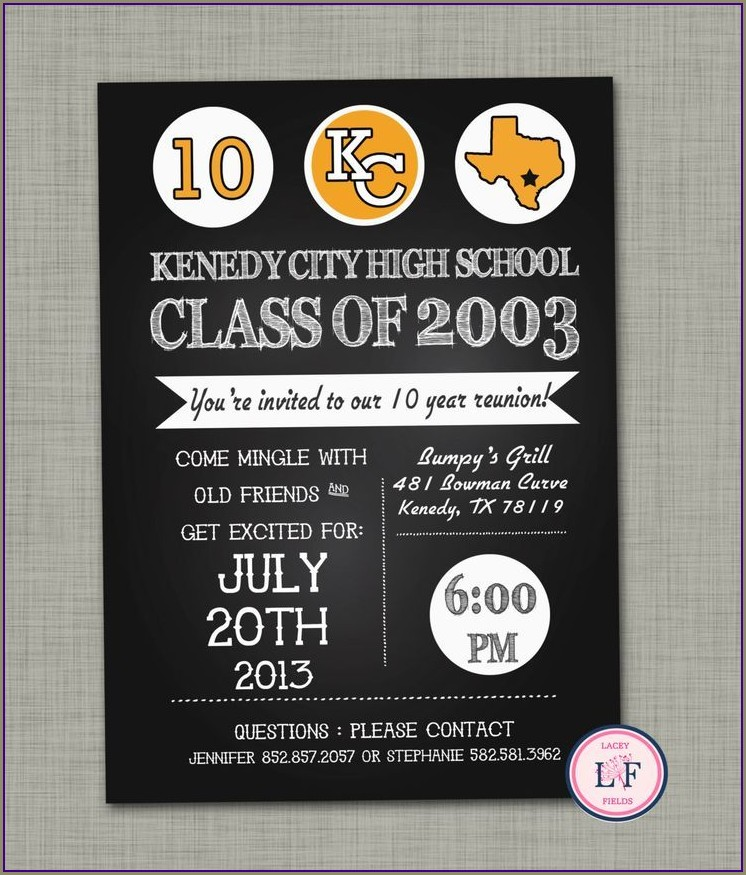 Free Printable Class Reunion Invitations