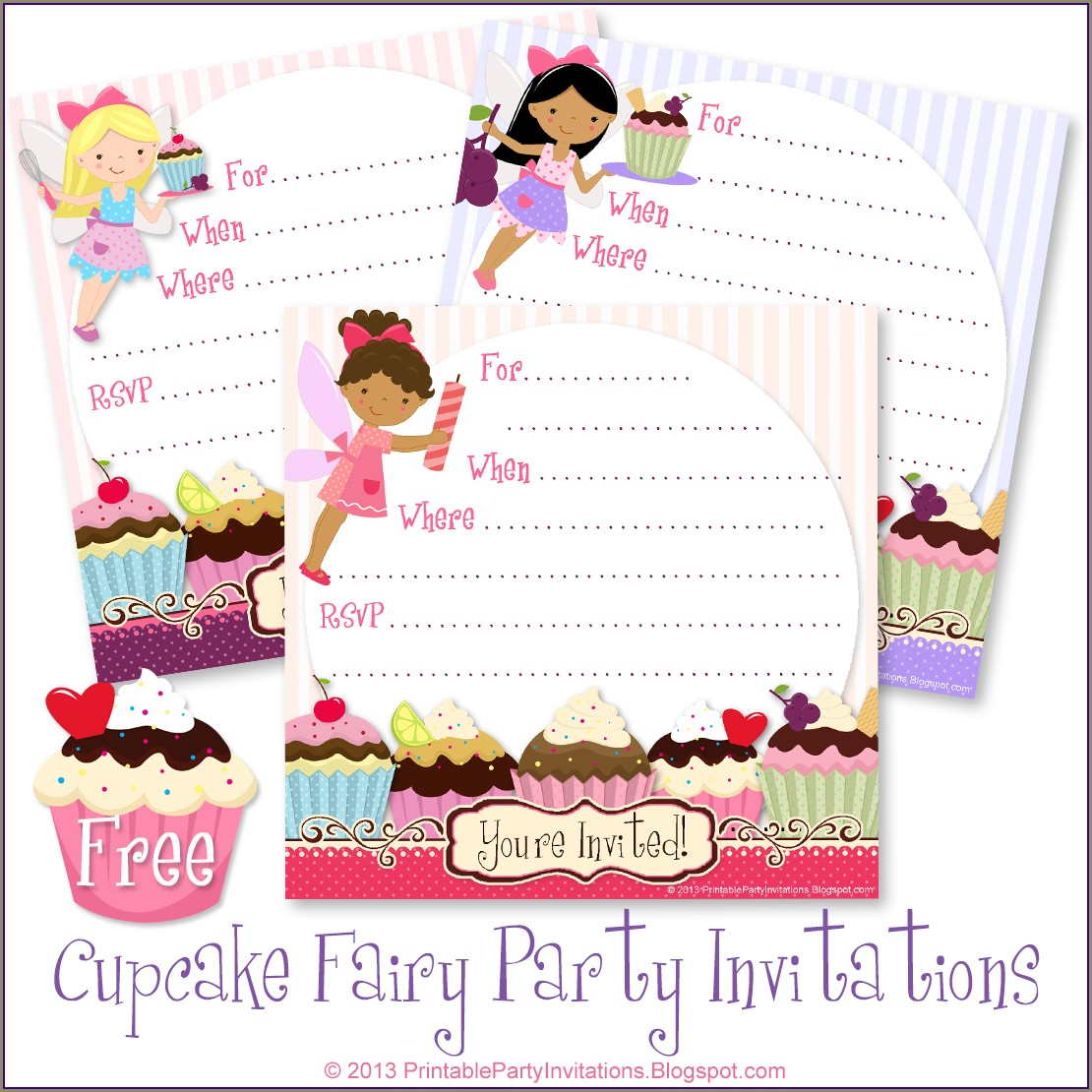 Free Printable Fairy Party Invitations Templates