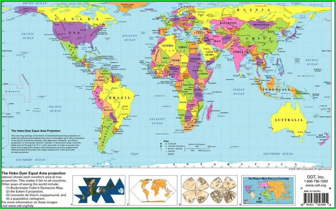 Free Printable World Map For Kids