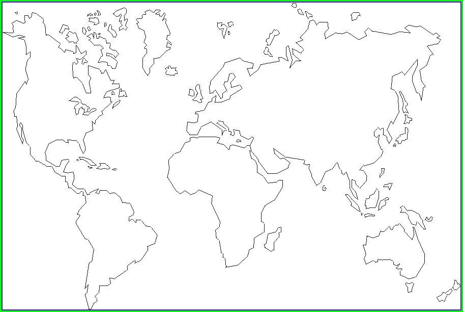 Free Printable World Map Outline