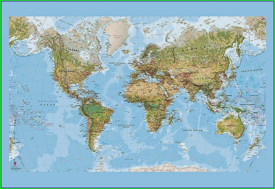 Free Printable World Map With Countries And Capitals