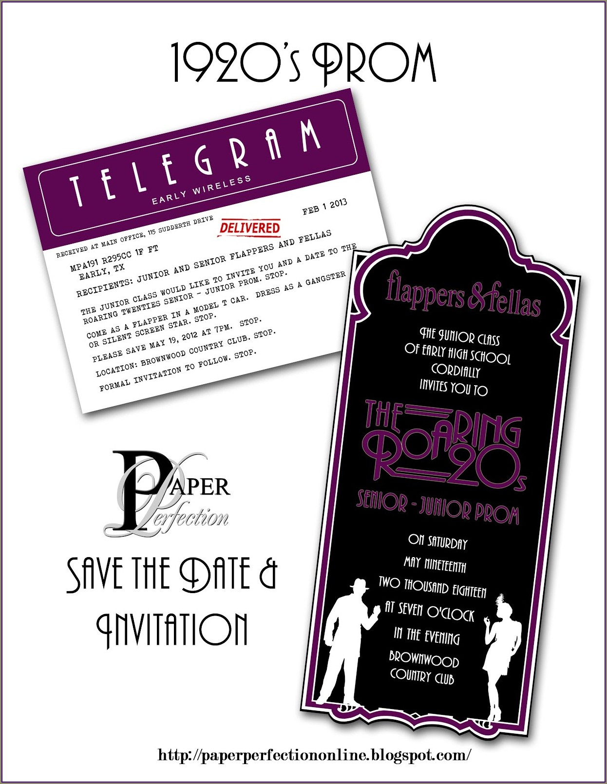 Free Prom Invitation Templates