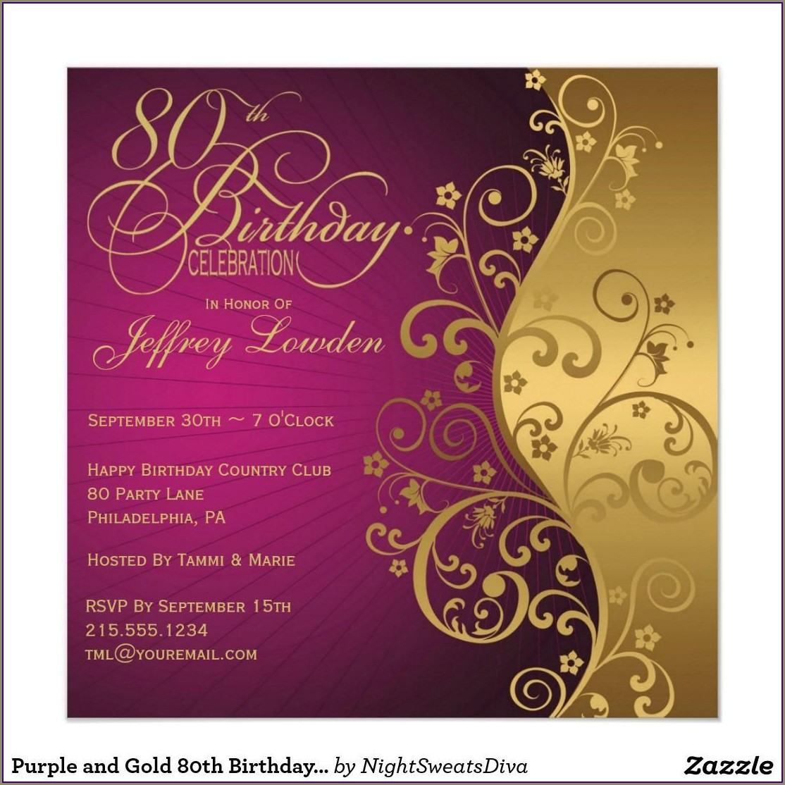 Free Sample Birthday Invitations