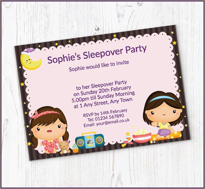 Free Sleepover Invitations Online