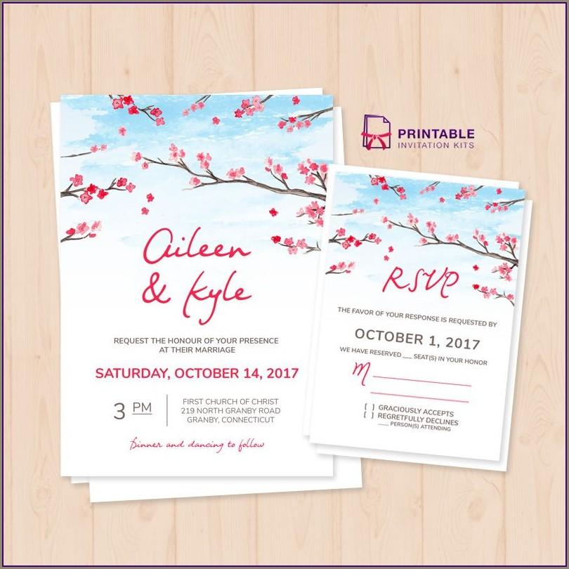Free Sunflower Wedding Invitation Templates