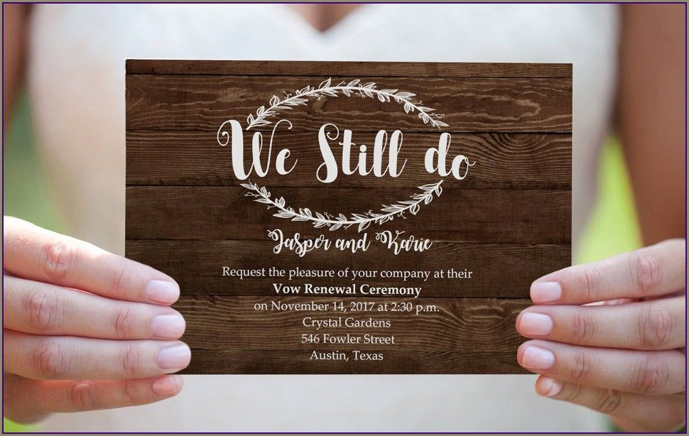 Free Vow Renewal Invitations Templates