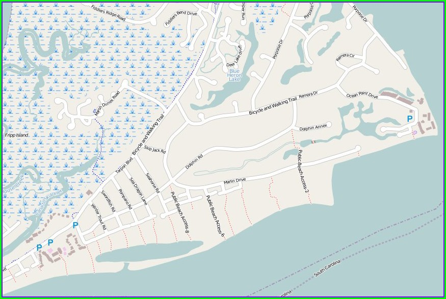Fripp Island Map Of Pools