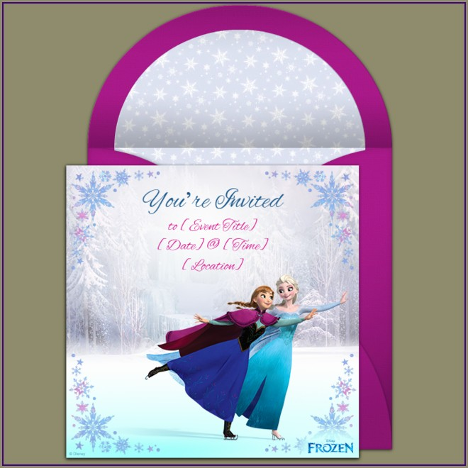 Frozen Electronic Birthday Invitation