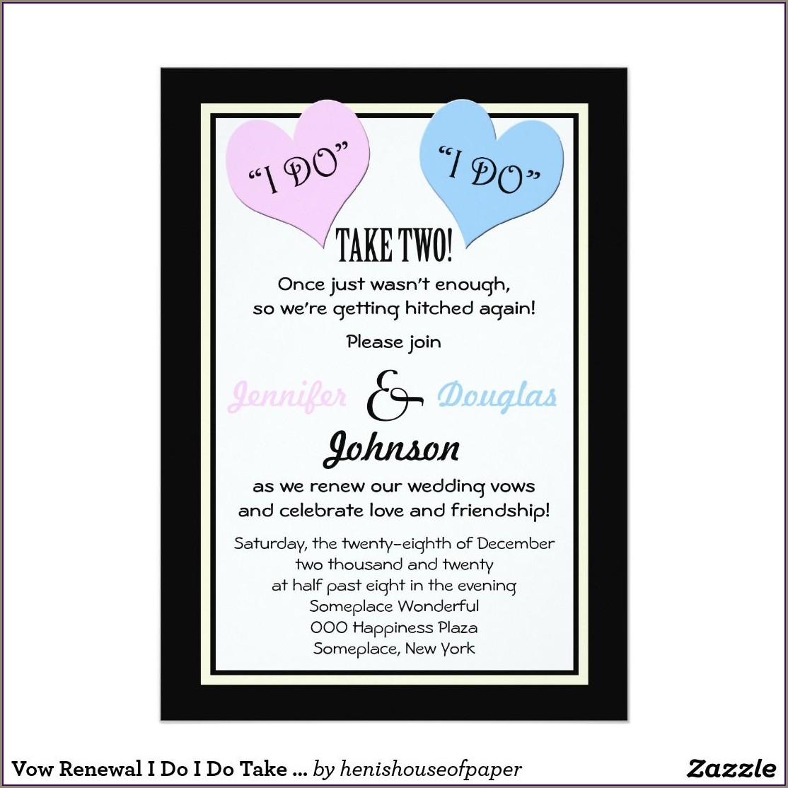 Funny Vow Renewal Invitations