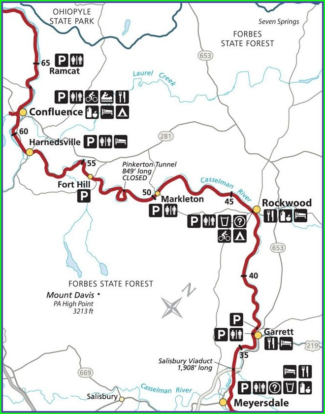 Gap Trail Great Allegheny Passage Map