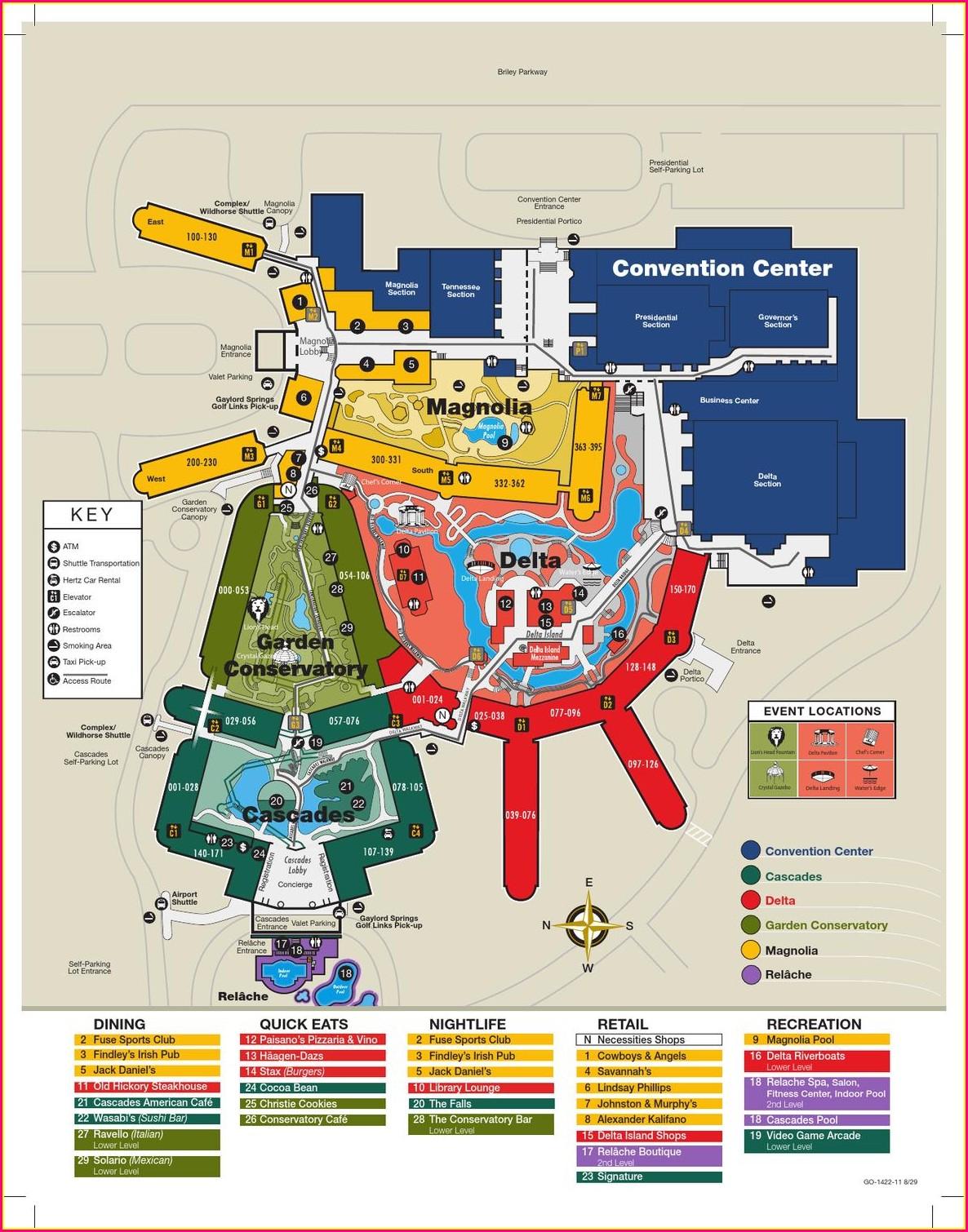 Gaylord Opryland Resort Map
