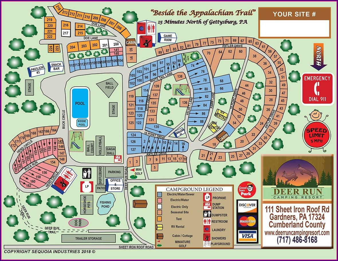 Gettysburg Battlefield Resort Site Map