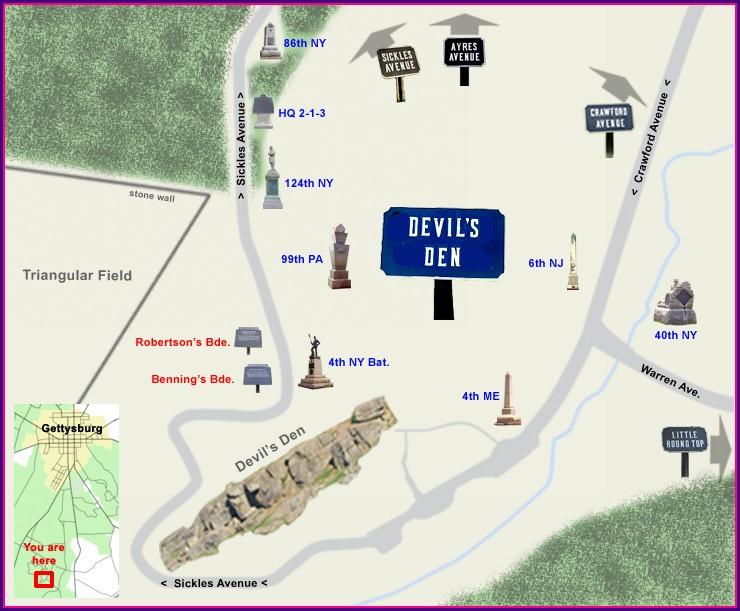 Gettysburg Battlefield Tour Map
